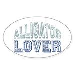 Alligator Lover Florida Fan Oval Sticker