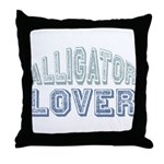 Alligator Lover Florida Fan Throw Pillow
