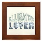 Alligator Lover Florida Fan Framed Tile