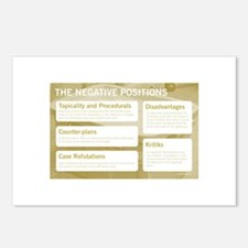 The Negative Positions Postcards (Package of 8)