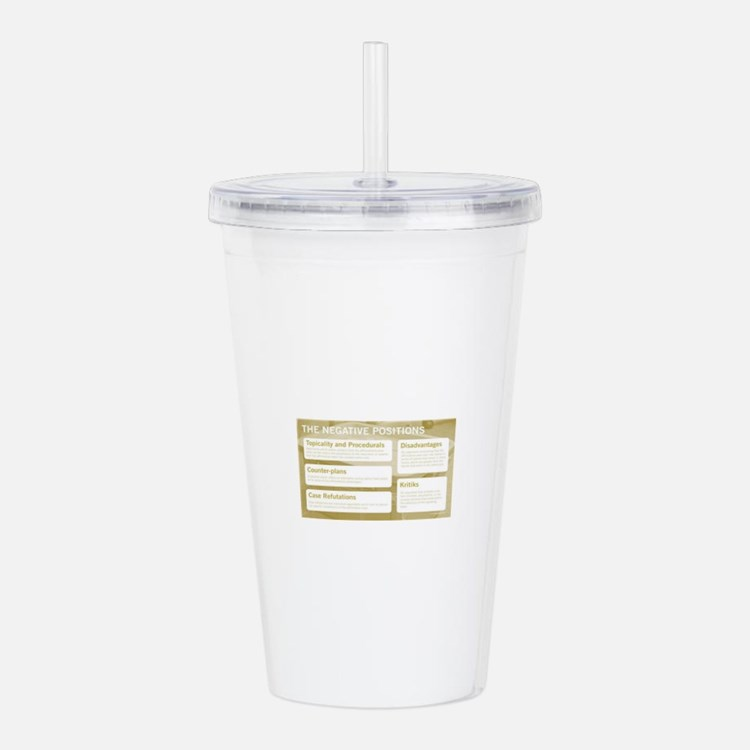 The Negative Positions Acrylic Double-wall Tumbler