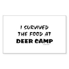 Survived Deer Camp Food Rectangle Decal