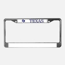 Lone star state License Plate Frame