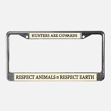 Respect Animals - License Plate Frame