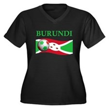 TEAM BURUNDI WORLD CUP Women's Plus Size V-Neck Da