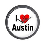I Love Austin Wall Clock