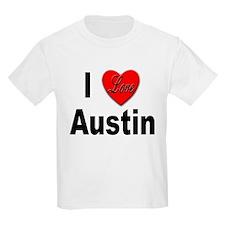 I Love Austin (Front) Kids T-Shirt