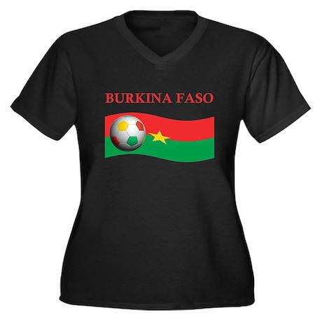 TEAM BURKINA FASO WORLD CUP Women's Plus Size V-Ne