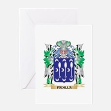 Padilla Coat of Arms - Family Crest Greeting Cards