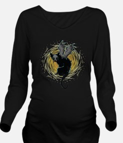 Bat Cat Long Sleeve Maternity T-Shirt