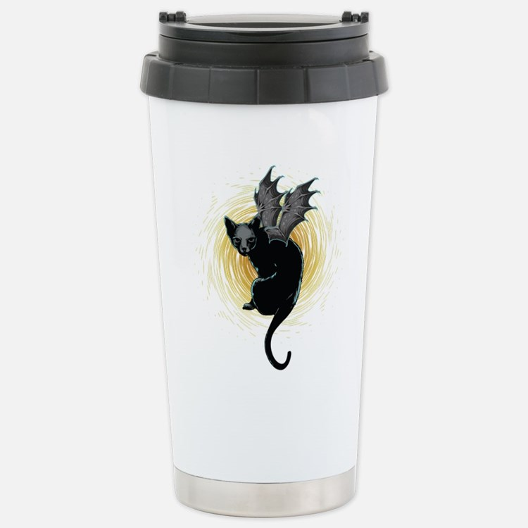 Bat Cat Travel Mug
