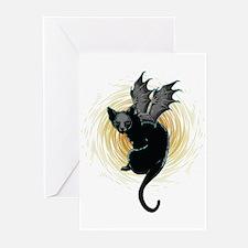 Bat Cat Greeting Cards