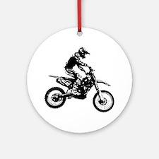 Cute Motocross Round Ornament