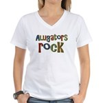 Alligators Rock Gator Reptile Women's V-Neck T-Shi