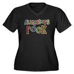 Alligators Rock Gator Reptile Women's Plus Size V-