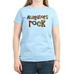 Alligators Rock Gator Reptile Women's Light T-Shir
