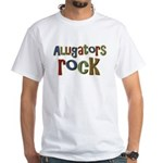 Alligators Rock Gator Reptile White T-Shirt