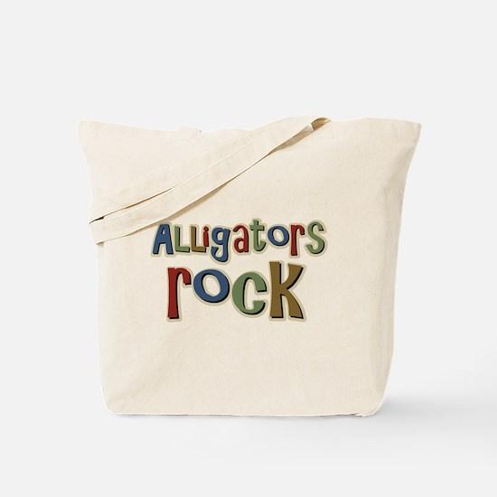 Alligators Rock Gator Reptile Tote Bag
