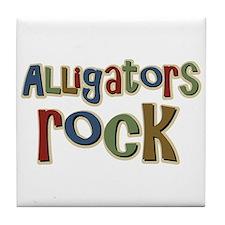Alligators Rock Gator Reptile Tile Coaster