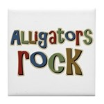 Alligators Rock Gator Reptile Tile Coaster
