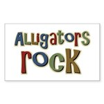 Alligators Rock Gator Reptile Sticker (Rectangular