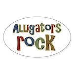 Alligators Rock Gator Reptile Oval Sticker