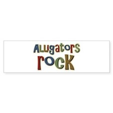 Alligators Rock Gator Reptile Bumper Bumper Sticker