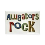 Alligators Rock Gator Reptile Rectangle Magnet (10