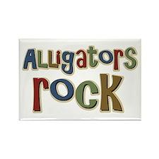 Alligators Rock Gator Reptile Rectangle Magnet