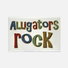 Alligators Rock Gator Reptile Rectangle Magnet
