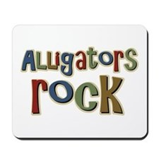 Alligators Rock Gator Reptile Mousepad