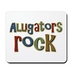 Alligators Rock Gator Reptile Mousepad