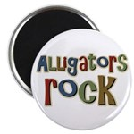"Alligators Rock Gator Reptile 2.25"" Magnet (100 pa"