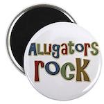 Alligators Rock Gator Reptile Magnet