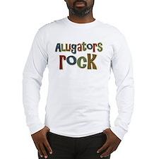 Alligators Rock Gator Reptile Long Sleeve T-Shirt