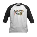 Alligators Rock Gator Reptile Kids Baseball Jersey