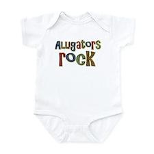 Alligators Rock Gator Reptile Infant Bodysuit