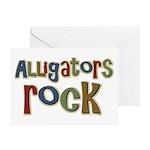 Alligators Rock Gator Reptile Greeting Card