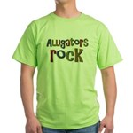 Alligators Rock Gator Reptile Green T-Shirt