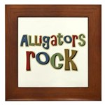 Alligators Rock Gator Reptile Framed Tile