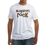 Alligators Rock Gator Reptile Fitted T-Shirt