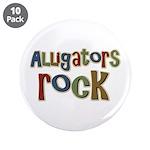 "Alligators Rock Gator Reptile 3.5"" Button (10 pack"