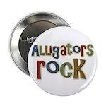 """Alligators Rock Gator Reptile 2.25"""" Button (10 pac"""