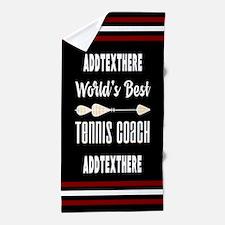 personalized tennis coach Beach Towel