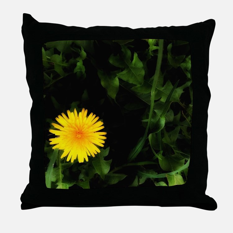Single Yellow One Throw Pillow