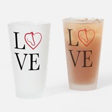 I Love horse riding Drinking Glass