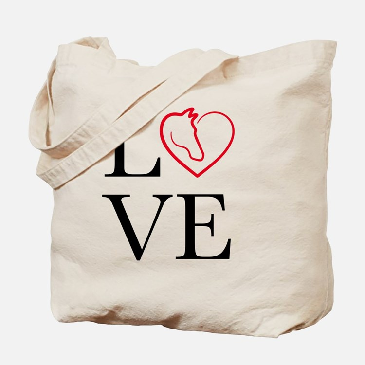 I Love horse riding Tote Bag