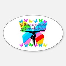 GYMNAST GOALS Sticker (Oval)