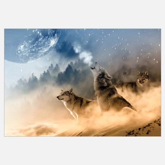 Funny Wolf Wall Art