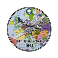 B-17 Flying Fortress WW2 Ornament (Round)